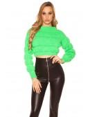 Пуловер женский MF1244 (неоновый зеленый) (111244) - foto
