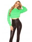 Пуловер женский MF1244 (неоновый зеленый) (111244) - оригинальная одежда, 2