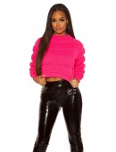 Пуловер женский цвета фуксии KC1245 (111245) - 3, 8
