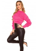 Пуловер женский цвета фуксии MF1245 (111245) - материал, 6
