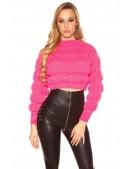 Пуловер женский цвета фуксии MF1245 (111245) - foto