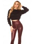 Укороченный женский черный пуловер MF1246 (111246) - foto