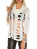 Рваный женский пуловер KC1252 (111252) - 4, 10
