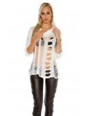 Рваный женский пуловер KC1252 (111252) - материал, 6
