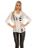 Рваный женский пуловер KC1252 (111252) - оригинальная одежда, 2