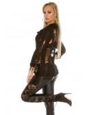Рваный черный пуловер KouCla (111253) - цена, 4