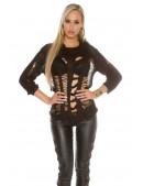Рваный черный пуловер KouCla (111253) - оригинальная одежда, 2