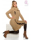 Вязаное платье KouCla (капучино) (105361) - foto
