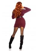Cвитер-платье бордового цвета KouCla (105371) - 3, 8