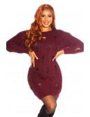 Cвитер-платье бордового цвета KouCla (105371) - материал, 6
