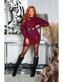 Cвитер-платье бордового цвета KouCla (105371) - цена, 4