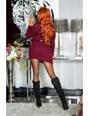 Cвитер-платье бордового цвета KouCla (105371) - оригинальная одежда, 2
