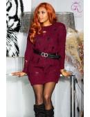 Cвитер-платье бордового цвета KouCla (105371) - foto