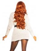 Свитер-платье с прорезями спереди KC5376 (105376) - 5, 12