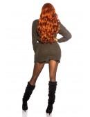 Длинный свитер-платье цвета хаки KouCla (105377) - материал, 6