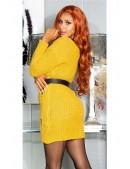 Длинный свитер-платье горчичного цвета KC5379 (105379) - 4, 10