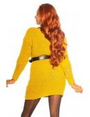 Длинный свитер-платье горчичного цвета KC5379 (105379) - материал, 6