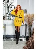 Длинный свитер-платье горчичного цвета KC5379 (105379) - цена, 4