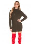 Свитер-платье цвета хаки с высоким горлом KC5475 (105475) - материал, 6