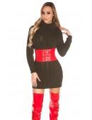 Свитер-платье цвета хаки с высоким горлом KC5475 (105475) - 4, 10
