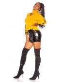 Женский джемпер с чокером и шнуровками на рукавах (111237) - 3, 8