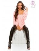 Розовый свитер оверсайз KC224 (111224) - foto
