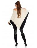 Двухцветный свитер-платье на одно плечо KouCla (111260) - цена, 4