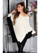 Двухцветный свитер-платье на одно плечо KouCla (111260) - foto