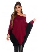 """Бордовое платье-свитер """"летучая мышь"""" KC1261 (111261) - 3, 8"""