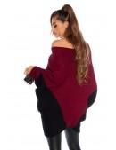"""Бордовое платье-свитер """"летучая мышь"""" KC1261 (111261) - материал, 6"""