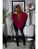 """Бордовое платье-свитер """"летучая мышь"""" KC1261 (111261) - оригинальная одежда, 2"""