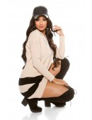 Свитер-платье оверсайз с капюшоном KC1263 (111263) - цена, 4