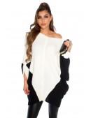 Платье-свитер на одно плечо кремового цвета KC1264 (111264) - 4, 10
