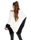 Платье-свитер на одно плечо кремового цвета KC1264 (111264) - 3, 8