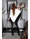 Платье-свитер на одно плечо кремового цвета KC1264 (111264) - оригинальная одежда, 2