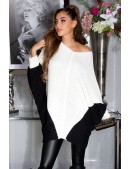 Платье-свитер на одно плечо кремового цвета KC1264 (111264) - foto