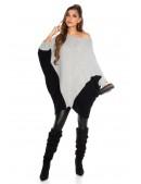 """Серое платье-свитер """"летучая мышь"""" KC1265 (111265) - оригинальная одежда, 2"""
