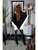 Черное платье-свитер на одно плечо KC1267 (111267) - 3, 8