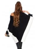 Черное платье-свитер на одно плечо KC1267 (111267) - цена, 4