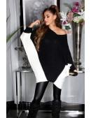 Черное платье-свитер на одно плечо KC1267 (111267) - foto