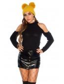 Черный свитер-водолазка крупной вязки KC41028 (141028) - 4, 10