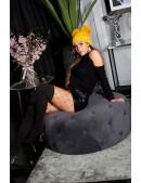 Черный свитер-водолазка крупной вязки KC41028 (141028) - цена, 4