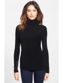 Черный женский свитер под горло XC1032 (141032) - оригинальная одежда, 2
