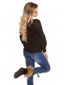 Черный фактурный свитер с рукавом-фонариком KC1277 (111277) - материал, 6