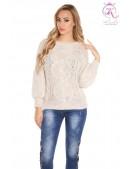 Вязаный женский свитер KC1284-Beige (111284) - foto
