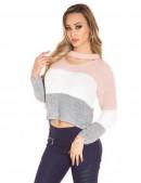 Вязаный пуловер с чокером KC91 (111191) - материал, 6