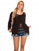 Рваный черный свитер Koucla (111196) - материал, 6