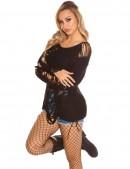 Рваный черный свитер Koucla (111196) - 3, 8
