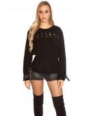Женский свитер со шнуровками KouCla (111204) - цена, 4