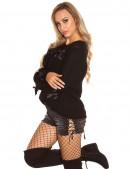 Женский свитер со шнуровками KouCla (111204) - оригинальная одежда, 2